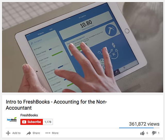 Freshbooks video marketing campaign