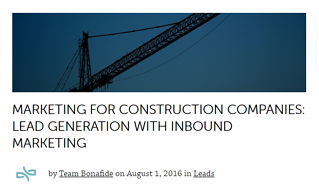 Marketing for Construction Companies: Lead Generation with Inbound Marketing