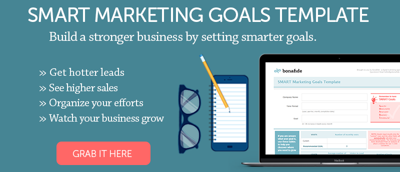SMART Marketing Goals Template CTA