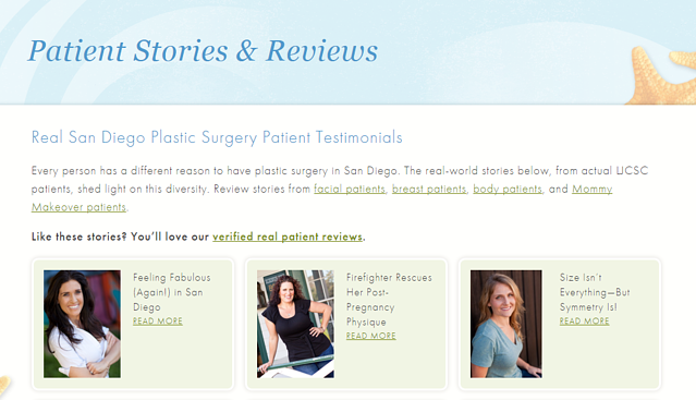 patient testimonials medical website