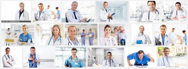 generic stock images medical website