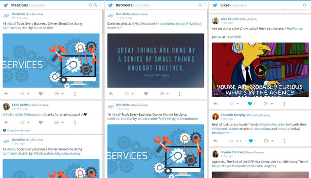 Hootsuite Mentions screenshot