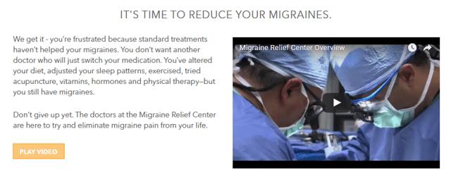migraine relief center video